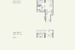 Parc Botannia - 1 Bedroom Floor Plan