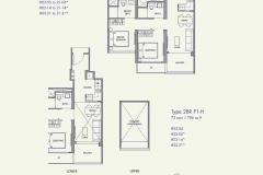 Parc Botannia - 2 Bedroom Floor Plan
