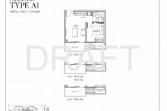 Sea Pavilion Residences - Draft 1 Bedroom Floor Plan
