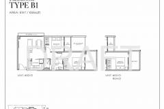Sea Pavilion Residences - Draft 2 Bedroom Floor Plan