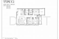 Sea Pavilion Residences - Draft 3 Bedroom Floor Plan