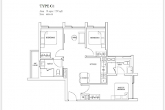 Sixteen35 Residences - 3 Bedroom Floor Plan