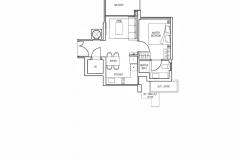 Stars Of Kovan - 1 Bedroom Floor Plan