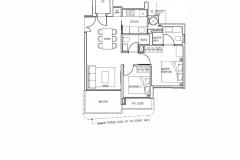 Stars Of Kovan - 2 Bedroom Floor Plan